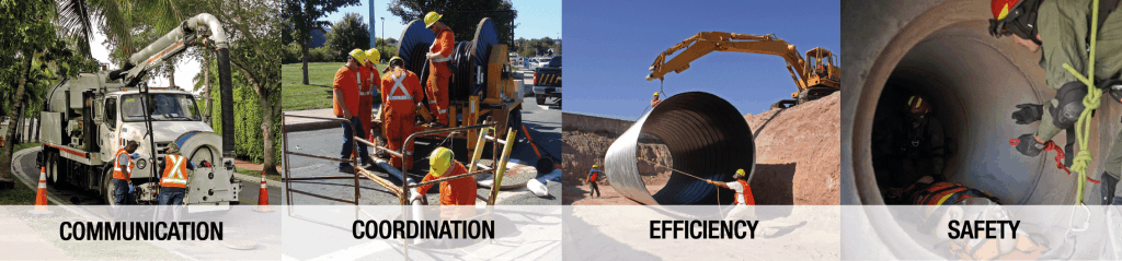 Communication and safety solution for sanitation and confined spaces
